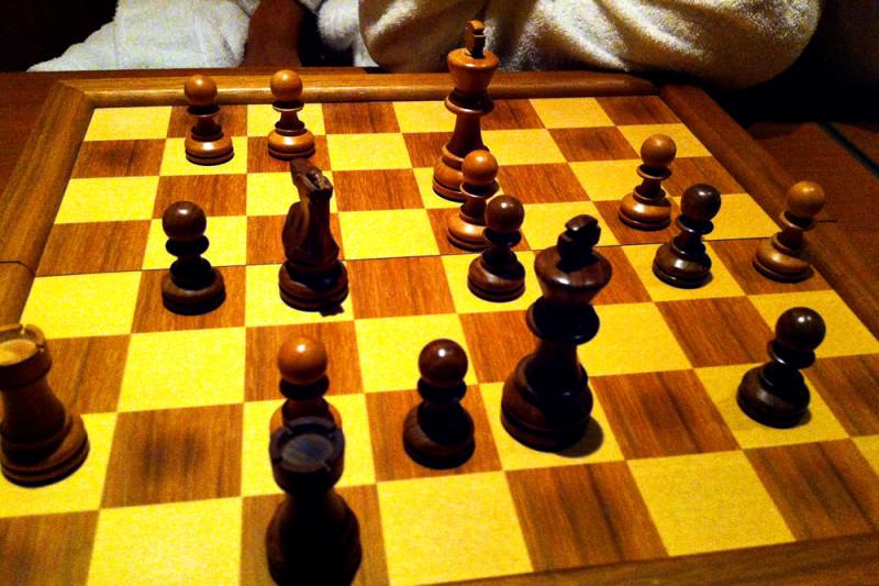 インターコンチネンタル品川のスイートでチェス