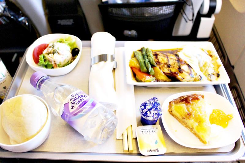 ブリティッシュ・エアウェイズのプレミアムエコノミーの機内食