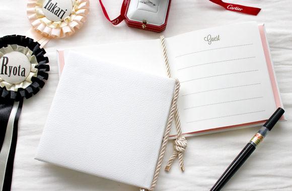結婚式で使う芳名帳を100均素材で手作りしてみた