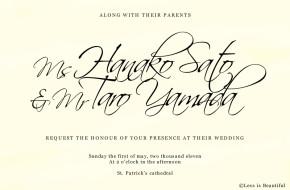 結婚式につかえるフォントまとめ(Scriptina)