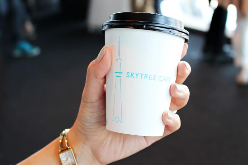 スカイツリーカフェでコーヒー