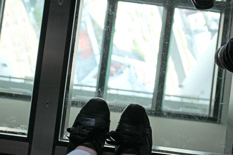 スカイツリーのガラス床