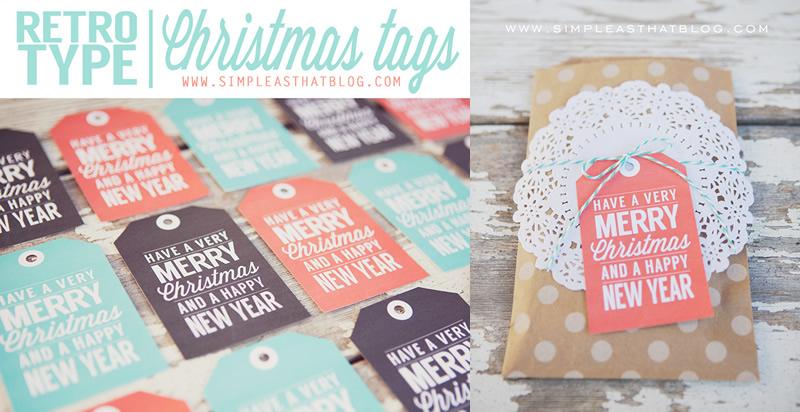 レトロなクリスマス&HAPPY NEW YEARタグ