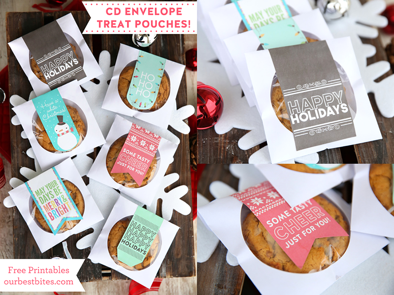 紙のCDケースにラベルを貼ったクッキー袋