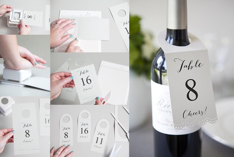 結婚式に使える、テーブルボトルナンバータグ