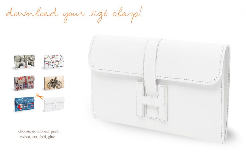 紙で作るエルメス(公式)のバッグ