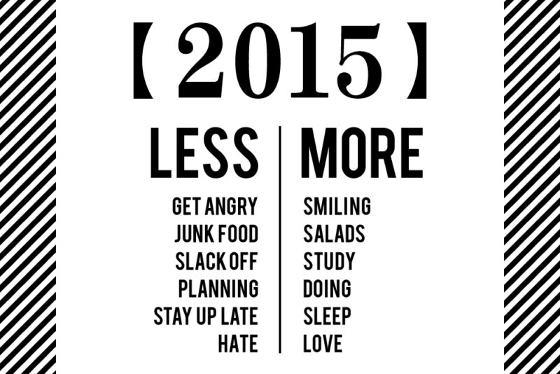 2015年のLess and More