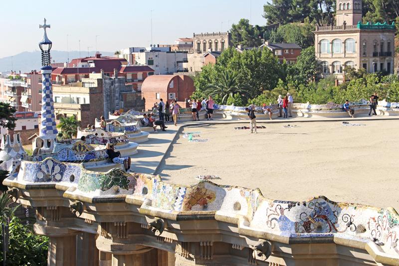 スペインのバルセロナをお散歩(グエル公園)