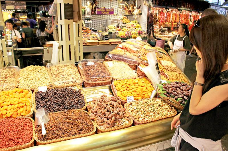 スペインのバルセロナをお散歩(サン ジョセップ市場)