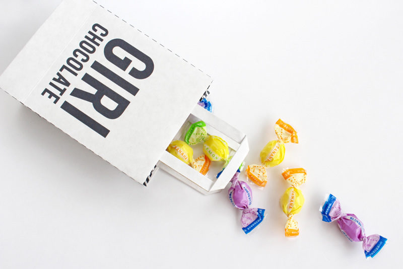 バレンタイン用の紙袋テンプレートをちょっとカスタマイズ