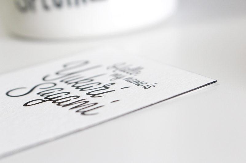 レタープレス印刷&小口染めで名刺を作りました