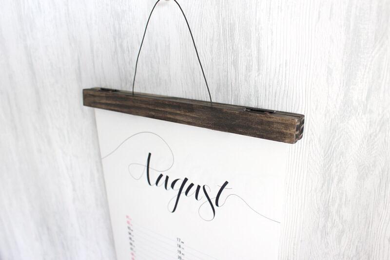 木製のポスターハンガーを作ってみた&作り方