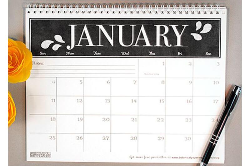 無料でダウンロードできるオシャレなカレンダー11選