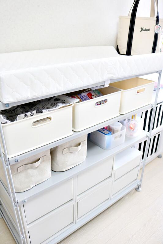 【出産準備】産後のベビー用品まとめ:ベビー用品の収納棚